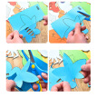 96Sheets/Set DIY Child Handmade Toys Paper Cutting Confetti Fun Educational Toys Kindergarten Teaching Supplies with Scissors