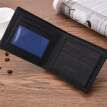 3 Color Men's Fashion PU Leather Business Wallets Card Holder Short Soft Purses