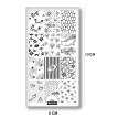 Mezerdoo Nail Art Stamping Plate Lovely Diamond Kiss Love Design Manicure Nail Art Image Stamp Template Stencil Beauty Tools C44