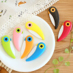 New Arrival bird ceramic knife folding kitchen knives for Cutting Paring Vegetable Fruit With Colourful ABS Handle cooking tools