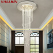 Modern Crystal Chandeliers Lighting Fixtures Dining Room Stairs Chandelier Hanging Lamps Indoor Home Deco Pendant Lights Fixture