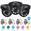 KKmoon 4x960P AHD Dome IR CCTV Camera  4x60ft Surveillance Cable Support IRCUT Night Vision 6pcs Array Infrared Lamps