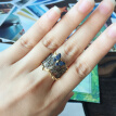 K1 Jewelry Butterfly lace ring Retro personality Pure 925 Silver Ultra Sapphire Crystal Inlay Ring gift