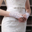 Bride Fingerless Lace Bridal Gloves White Ivory Sequins Short Wrist Wedding Gloves Wedding Accessories