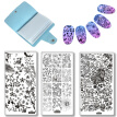 4pcs/Set Animal Panda Tiger Nail Art Stamp Stencil Stamping Template Plate Holder Case Nails Polish Paint Manicure Image Plates