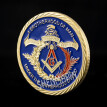 24k Colorized gold plated Masonic Freemasonry brother challenge coin Europe masonic coins collectibles