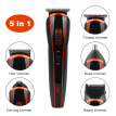 5 in 1 Rechargeable Hair Trimmer Hair Clipper Electric Shaver Beard Trimmer Men hair cut tools Shaving Machine