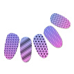 1Pc Rectangle Stamp Plate Line Net Dot Circles stripe Design Nail Art Tmeplate Manicure Nail Stamping Image Plates for Nails C43