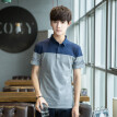 Summer men's short-sleeved t shirt with lapel splicing polo shirt men's trim Korean version of the fashionable half-sleeve T-shirt