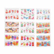 18 Sheets Nail Sticker Set Mixed Butterfly Flower Pattern Nail Paper Tip Nail Art Styling Set DIY Water Transfer