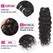 Ishow Hair 7A Unprocessed Brazilian Water Wave Virgin Hair 3 Bundles With Baby Hair With Closure Brazilian Virgin Hair