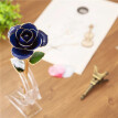 Daya Blue 24K Gold Rose, Unique Anniversary Birthday Gifts for Her, Made from Real Rose Flower with Stand