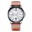 Time Quartz Watches Leather band Double Calendar Male Wristwatch Relogio Masculine