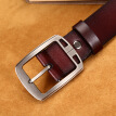 Men's pin buckle two layers of cowhide leather belt men's belt belt leisure business