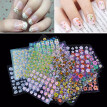 50 Sheet Nail Art Stickers 3D Floral Design Beautiful Manicure Accessories V4R6