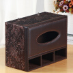 Yapi Shi leather drawer multi-function tissue box paper box napkin paper box living room coffee table desktop remote control storage box paper box antique