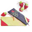 Cute Eco Storage Handbag Shopping Bag Strawberry Reusable Foldable Tote Bag Shopper