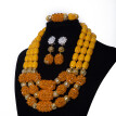 Violet Coral Beads Bridal Wedding Jewelry Set Traditional African Wedding Bridal Statement Necklace Nigerian Women Jewelry Set