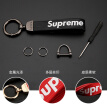 Di Galen car key chain tide brand leather fashion personality key chain car trend key rope ring men and women creative couple key chain pendant SUP gun black