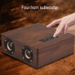 3.5MM Q5 Wooden Bluetooth Speaker 12W High Power Home Mobile Computer Bluetooth 4.2HiFi Quality Support AUX Wireless Card Audio