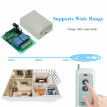 433MHz DC 12V 2CH Universal 10A Relay Wireless Remote Control Switch Receiver Module And 5PCS 2 Key RF 433Mhz Transmitter Remote C