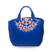 2016 Fashon women leather embroidered bag floral leather messenger tote handbags famous brand national ethnic embroidery bag