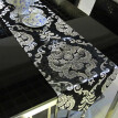 Free Shipping 30*180cm Europe Style Table Runner Hot Silver Home Decoration Tablecloth Embroidery Cloth Hotel Villa Wedding