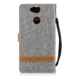 "BEFOSPEY Mixed Colors Denim PU Leather+Soft TPU Card Slot Stand Wallet Case For Sony Xperia XA2(5.2"")(2018)"