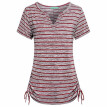 Try Everything Fashion Short Sleeves Striped Shirts Women 2018 Cotton Blouse Women Summer V Neck Casual Ladies Elastic T-Shirt