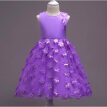 New Girl  Children's  Lace three-dimensional petal dress child Princess Dress Wedding Christmas Party Dress