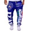 Zogaa Men's Pant Sports Italy flag Printing Casual