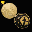 James Bond 007 gold plated commemorative challenge coin collection souvenir art gifts