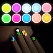 New 10Pcs Fashion Decor UV Gel Polish Glow In The Dark Nail Tip Art Glitter Powder Dust Luminous Sands Manicure Decoration Fluores