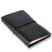 TRNFA TB-AH02 Leather Bound Notebook, Black
