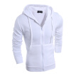 Men's Sweatshirts Solid Color Zipper Sports Jacket Hooded Cardigan Coat