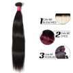 Ali Queen Hair Products 3pcs Lot Natural Color Brazilian Virgin Hair Straight Human Hair Weave Bundles