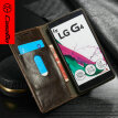 CaseMe Case for LG G4, Luxury R64 Leather Stand Wallet Magnetic Cell Phone Cover for lg g4, New Arrival