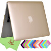 "UESWILL Luxury Gold Smooth Soft-Touch Rubber Coated Hard Shell Case Cover for MacBook Air 11"" (Model: A1370/A1465)- Gold"