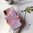 Fashion simple marble series mobile phone case iPhone7/8 plus simple apple X all-inclusive mobile phone hard shell protective cove