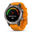 Garmin Fenix5+ Titanium Shining Orange Sapphire Mirror Face Fly Time 5Plus Heart Rate Music NFC Pay Golf GPS Outdoor Sports Navigation Watch