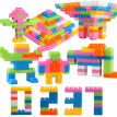 Plastic Children Kid Puzzle Building Blocks Bricks Educational Toy Gift
