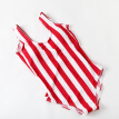 Vintage High Waist Red Striped One Piece Swimsuit Push Up Swimwear Lengthen the Body Classical Women Swimwear For Girl