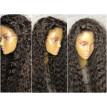 Braziian Virgin Hair Curly Lace Front Wig 150% Density Bleached Knots With Baby Hair Natural Color