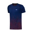 Li Ning LI-NING new short-sleeved T-shirt badminton wear men's breathable running fitness sportswear AAYN181-1 navy L