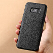 Genuine Leather Phone Case For Samsung S8 Case Litchi Texture Back Cover For Note 8 S7 edge Case