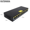 250m 10-Port Extend PoE Ethernet Switch with 8 Ports PoE 2 Uplink 10/100Mbps IEEE 802.3af/at Standard Switch 140W External Power