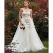 Custom Mermaid / Trumpet Sweetheart Court Train Lace Organza Wedding Dresses with Beading Appliques by CIRCELEE®