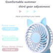 TOMNEW Usb Rechargeable Mini Fan Portable 3 Speed Angle Adjustable Puppy Table Hand Fan for Office or Outdoors