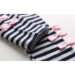 2016 new Children sportswear set with Bows and stripes tops+pants