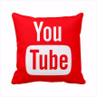 Modern Decorative Pillows Cover Youtube Throw Pillows Case Red Square Cushion Cover Home Decor Sofa Play Movie Cushion Cover